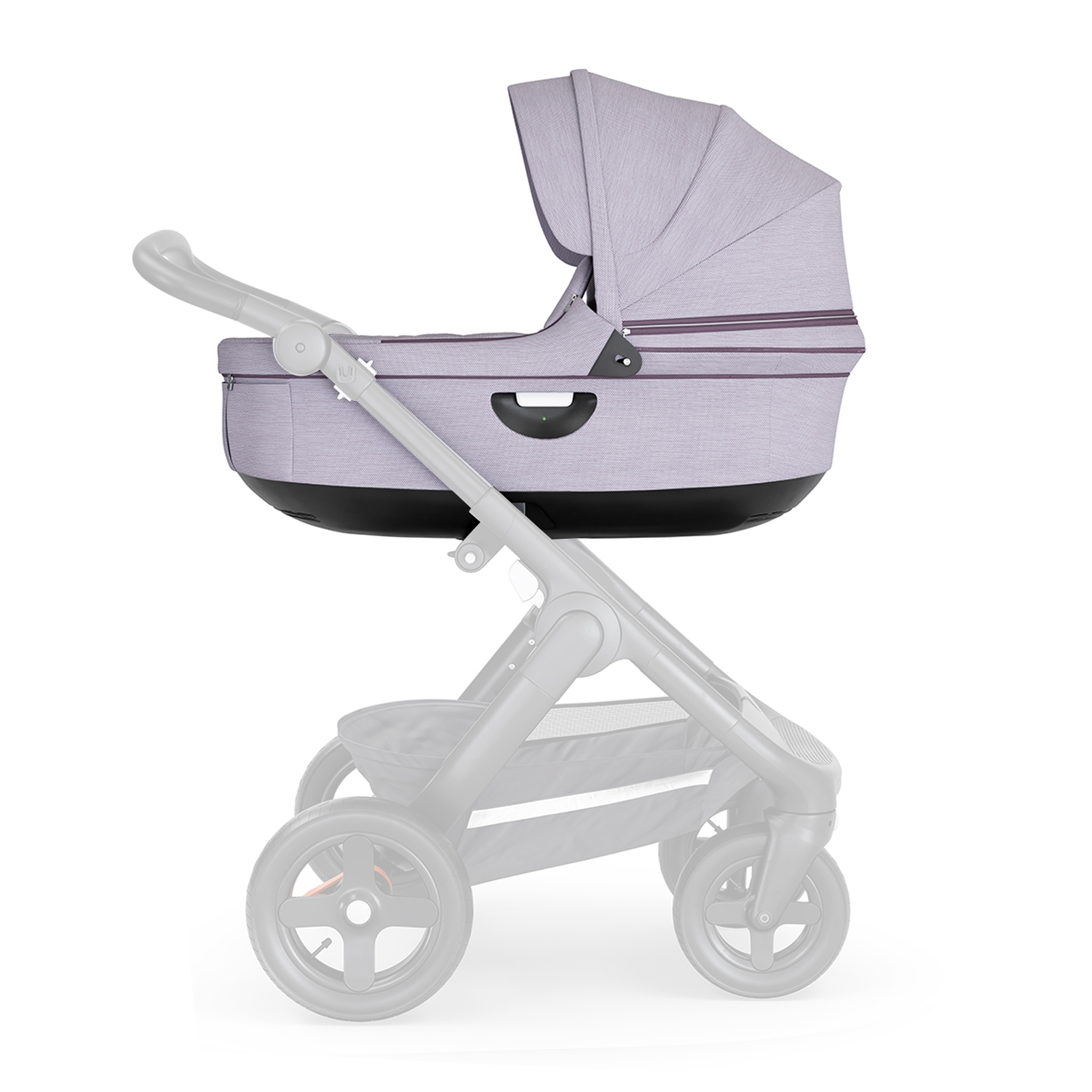 Люлька Stokke Trailz Black Brushed Lilac, фиолетовый