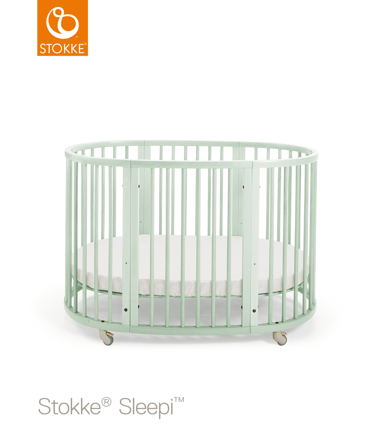 Кроватка Stokke Sleepi Mint Green, мятный