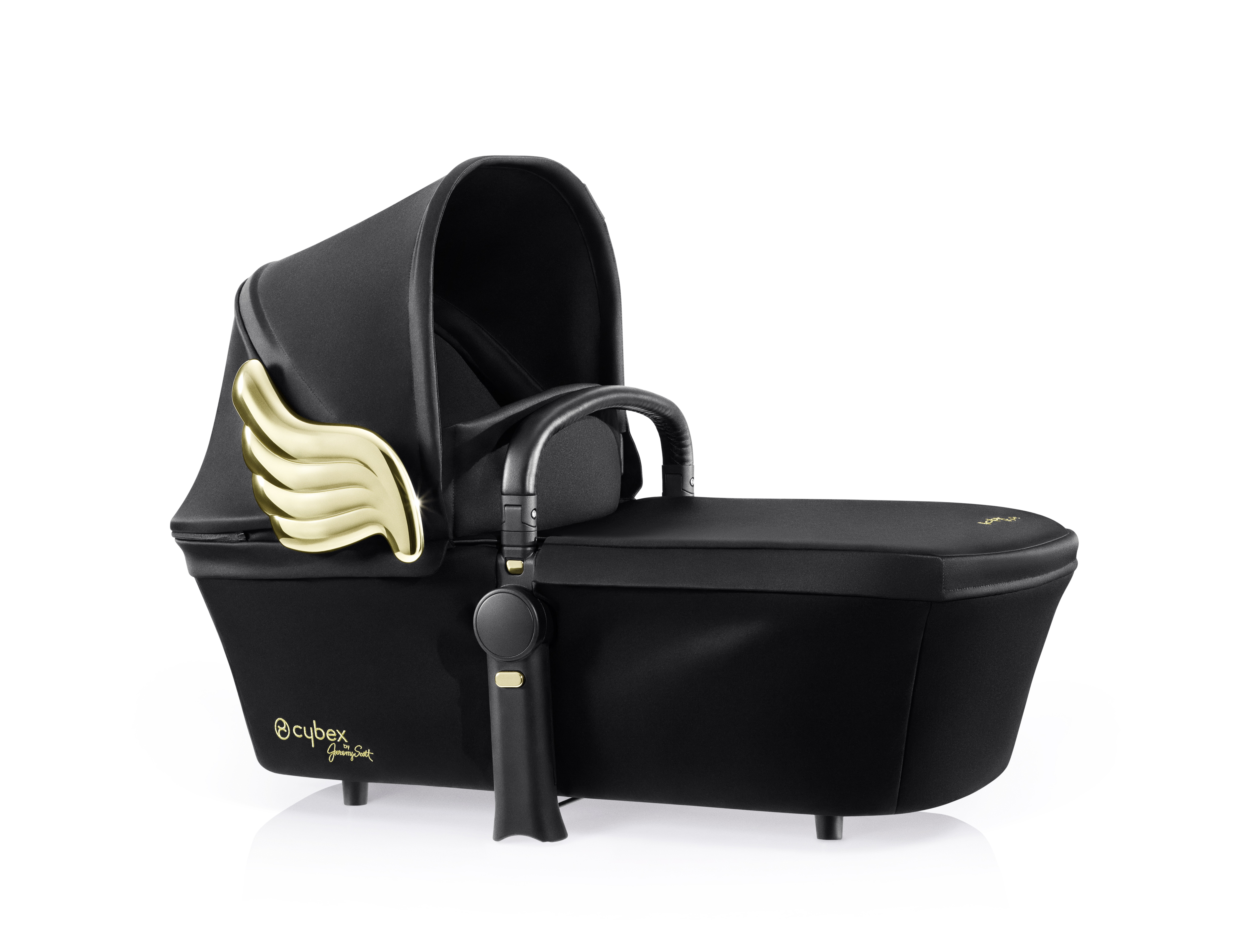 Люлька Cybex Priam JS Wings black, цвет: черный