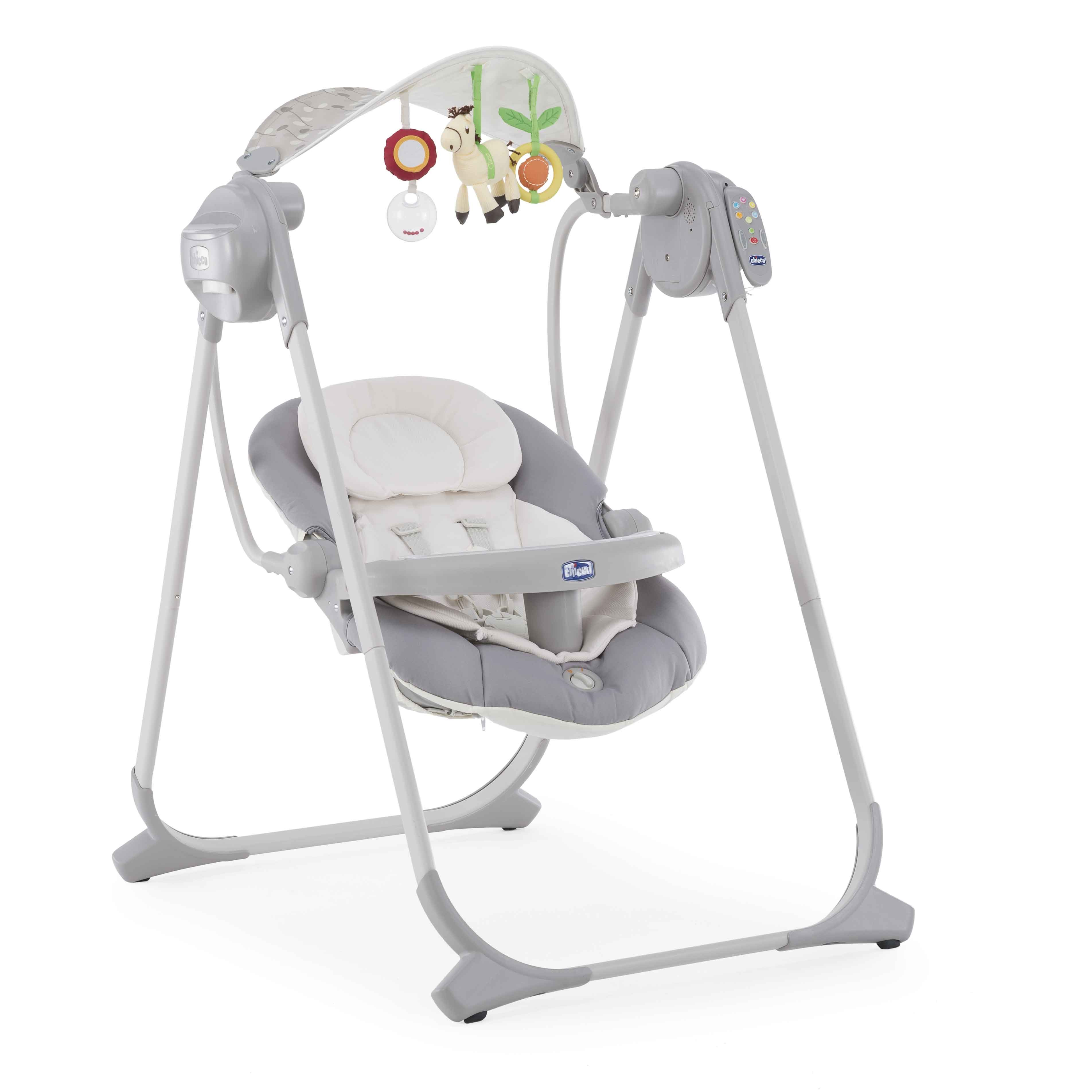 Качели Chicco Polly Swing UP, цвет: серебристый