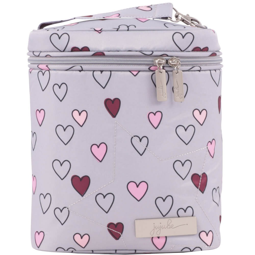 Mothercare Термосумка Ju-Ju-Be Fuel Cell Sweet Scarlet Happy hearts , цвет: серо-розовый