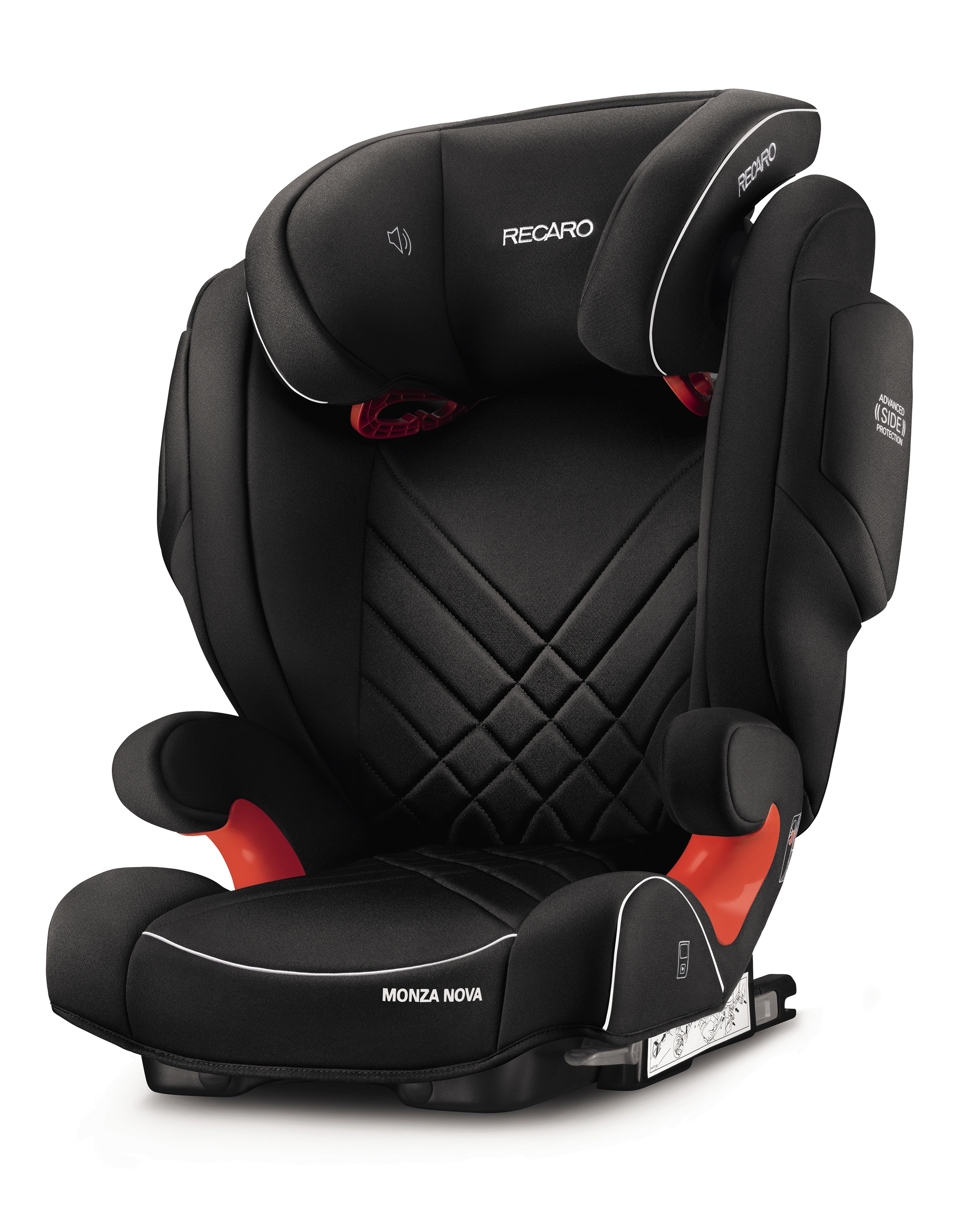 Автокресло Recaro MONZA NOVA 2 SEATFIX, PERFORMANCE BLACK, черный