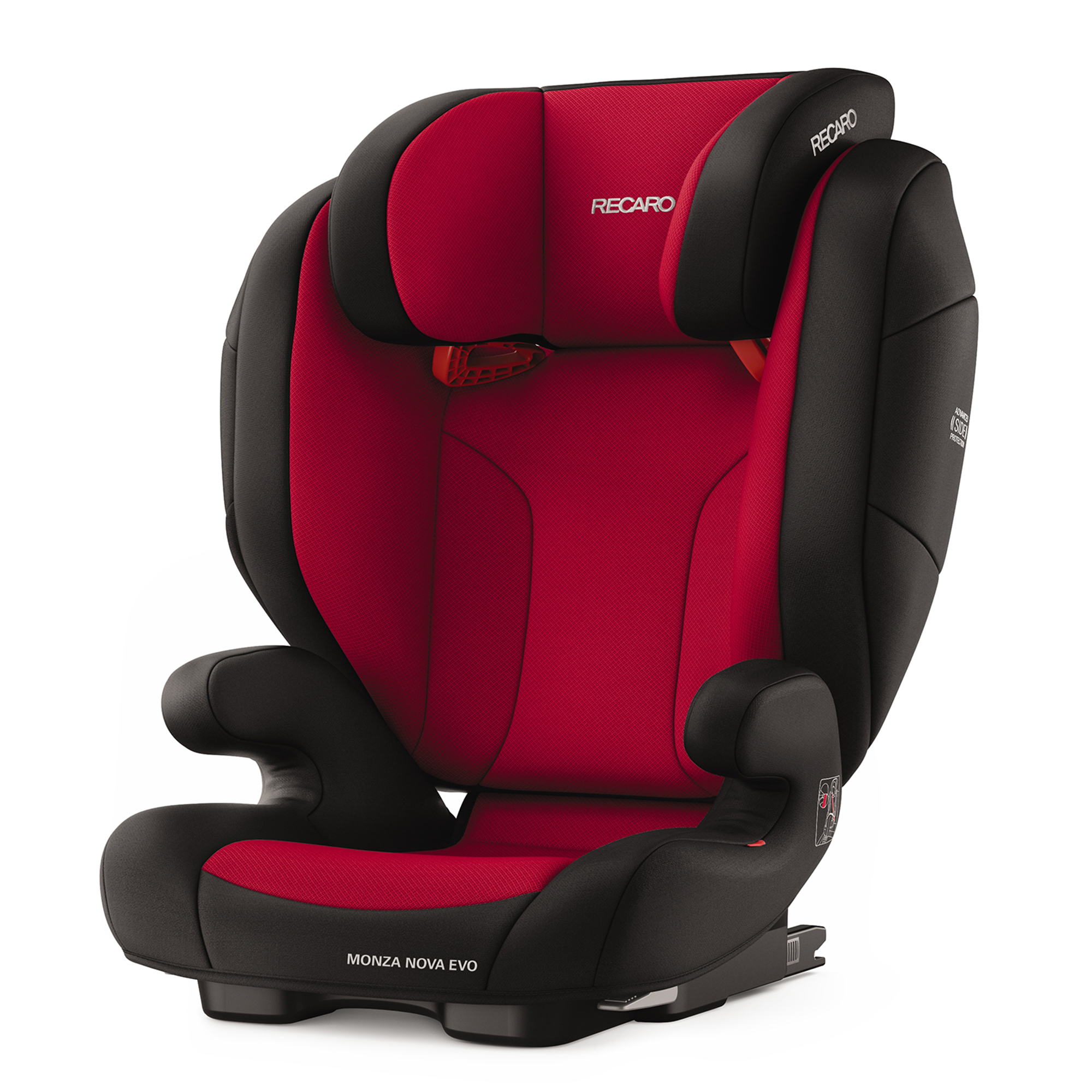 Автокресло Recaro MONZA NOVA EVO SEATFIX, RACING RED, красный