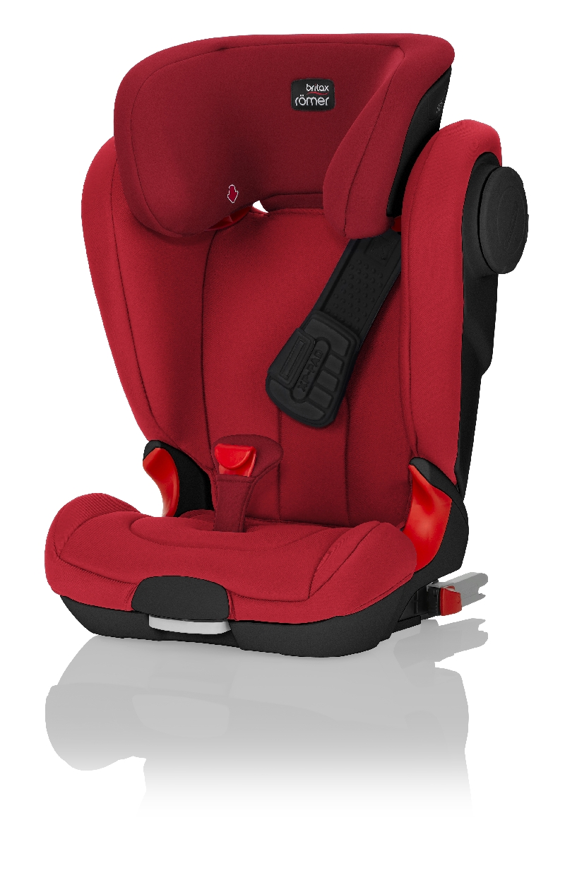 Детское автокресло BritaxRömer Kidfix II XP SICT Black Series Flame Red Trendline, цвет красный