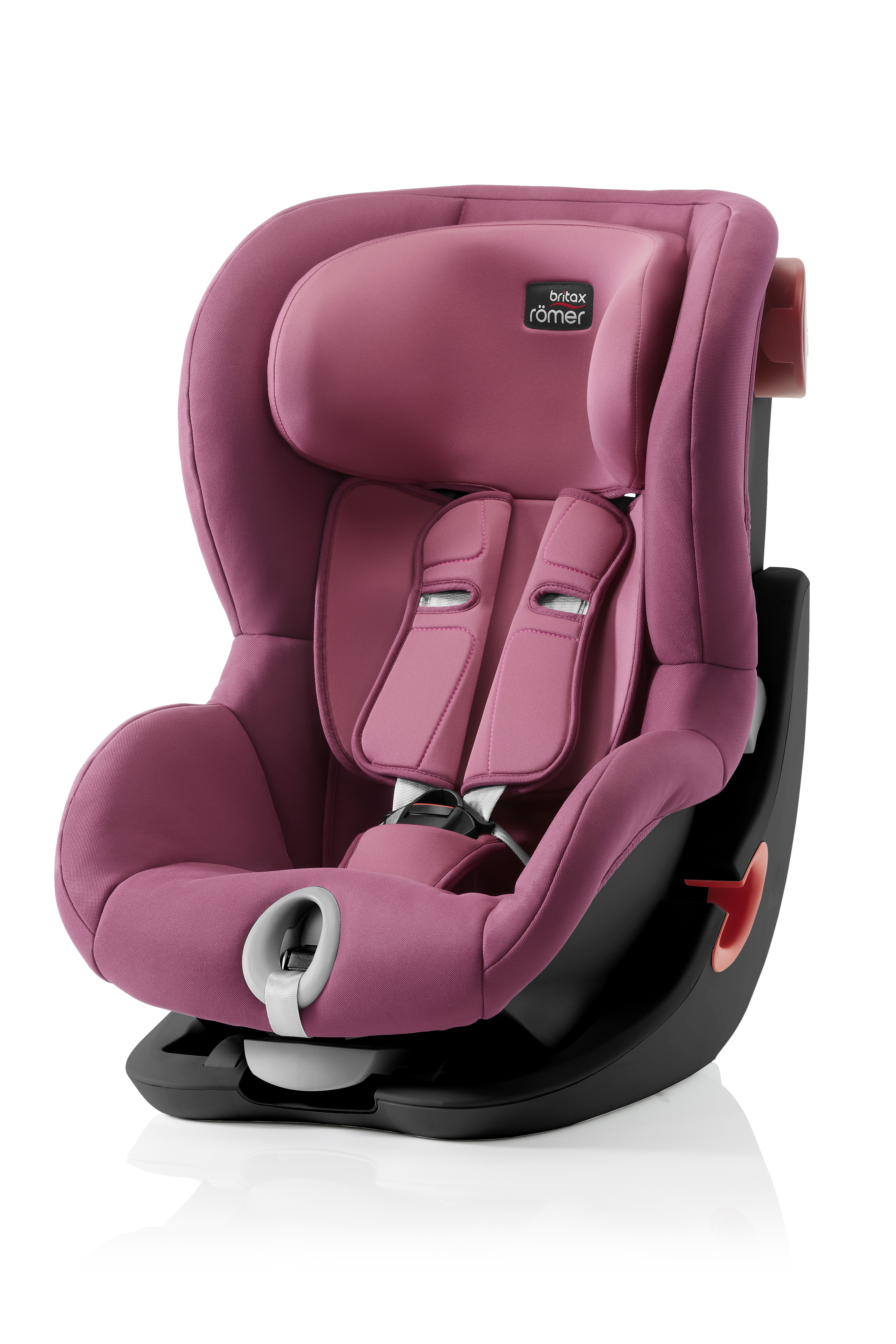Автокресло Britax Roemer King II Black Series Wine Rose Trendline, цвет: розовыйBritax R?mer <br>Автокресло Britax Roemer King II Black Series Wine Rose Trendline, цвет: розовый<br>