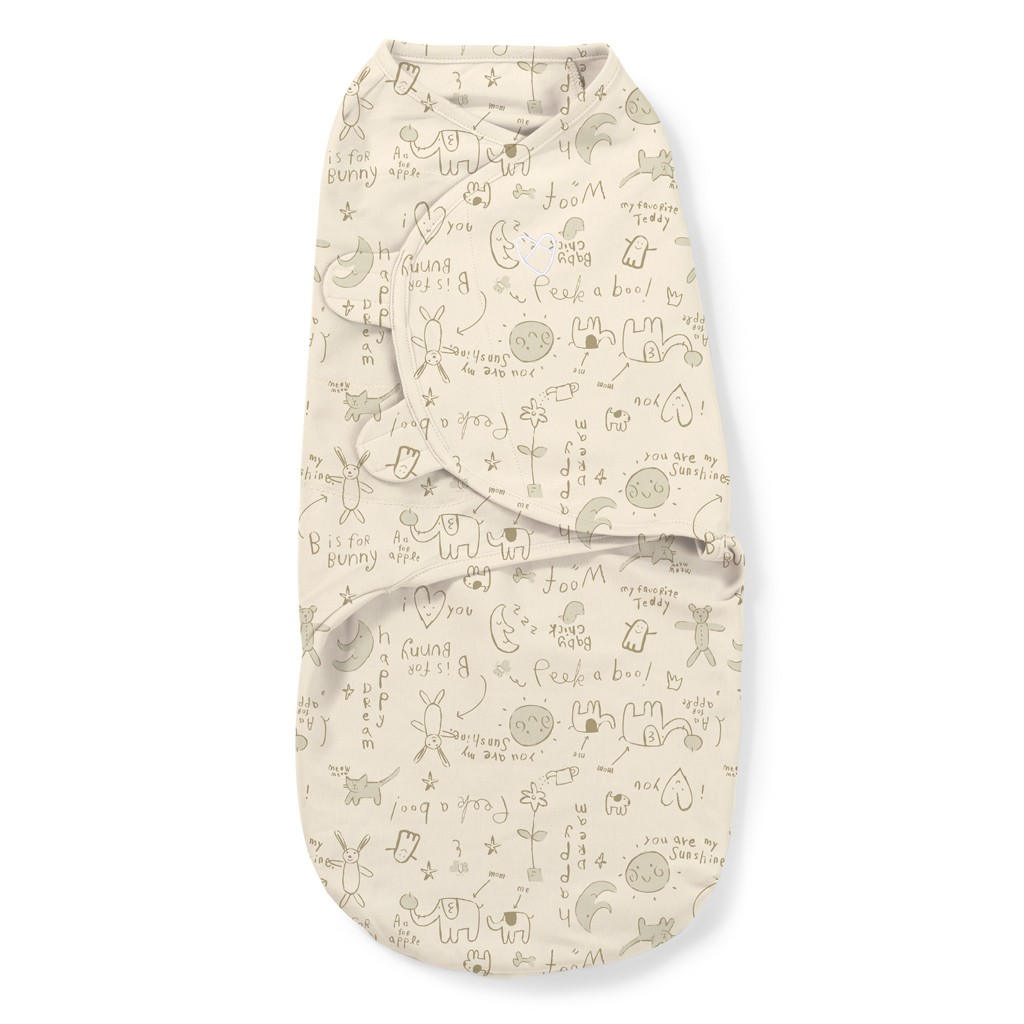 Конверт на липучке Summer Infant SwaddleMe Organic Bunny, S-M,цвет: кремовыйSummer Infant<br>Конверт на липучке Summer Infant SwaddleMe Organic Bunny, S-M,цвет: кремовый<br>