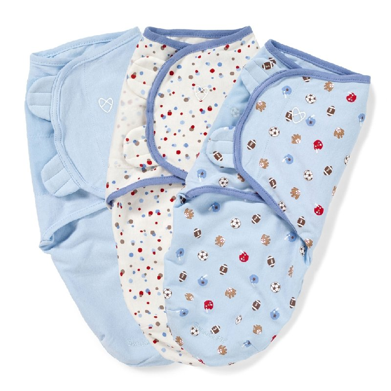 Конверт на липучке Summer Infant Swaddleme, размеры S и M, 3штПодарки для мальчика<br>Конверт на липучке Summer Infant Swaddleme, размеры S и M, 3шт<br>
