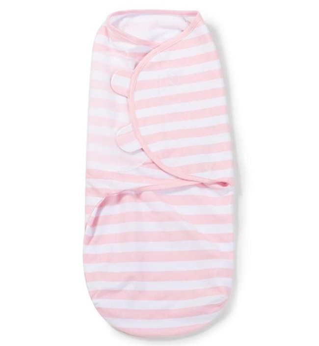 Конверт на липучке Summer Infant Swaddleme Pink Stripe, S-M, цвет: розовыйSummer Infant<br>Конверт на липучке Summer Infant Swaddleme Pink Stripe, S-M, цвет: розовый<br>