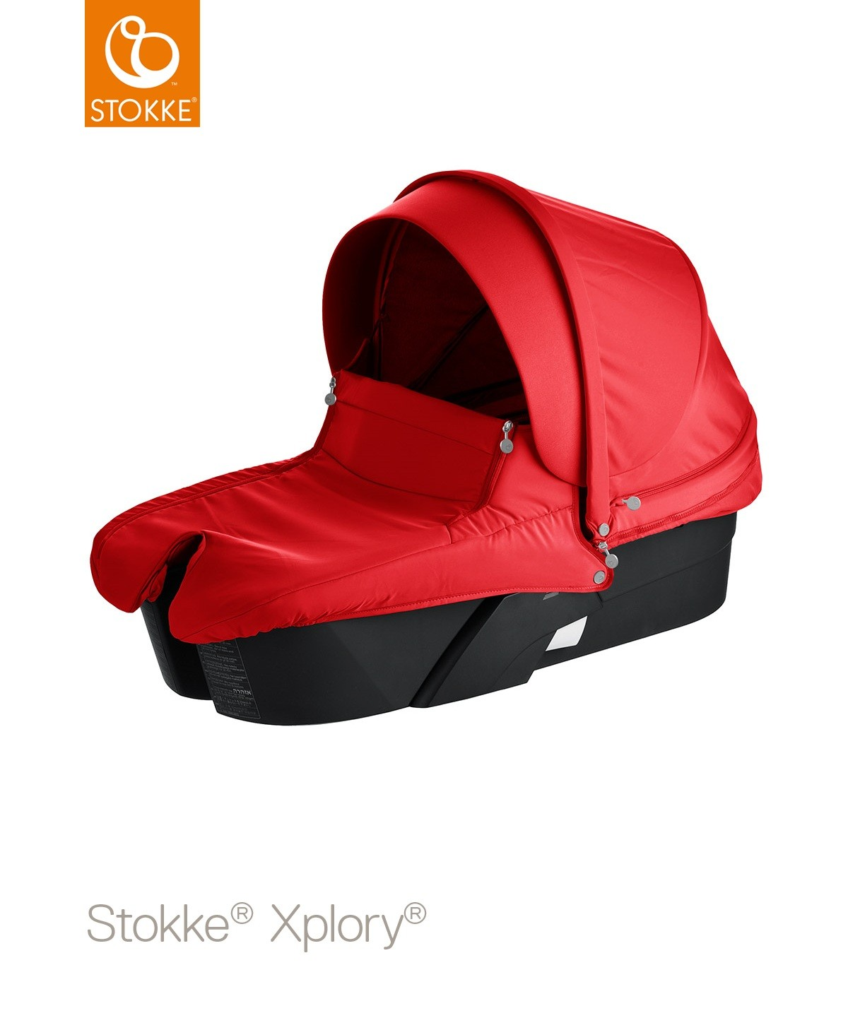 Люлька Stokke Xplory All Black, цвет: красныйStokke<br>Люлька Stokke Xplory All Black, цвет: красный<br>