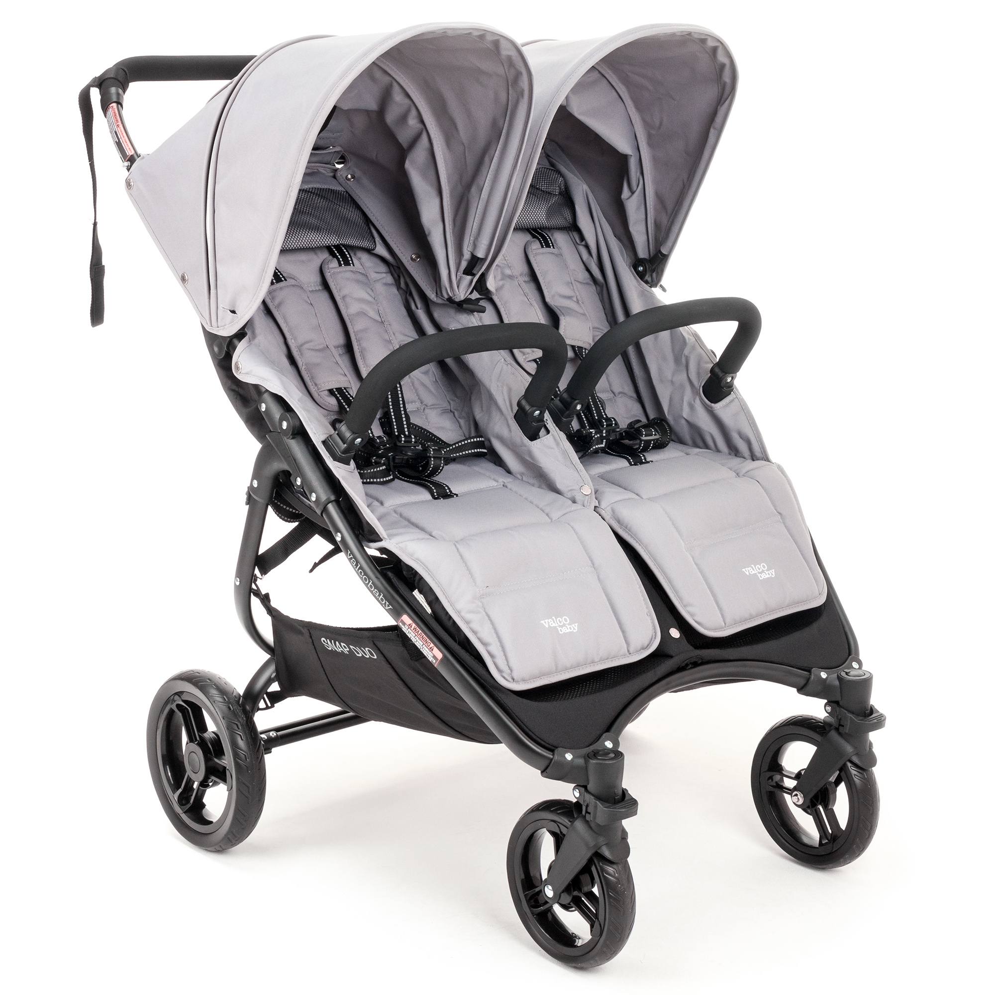 Коляска для двойни Valco baby Snap Duo Cool Grey, серыйКоляски-книжка<br>Коляска для двойни Valco baby Snap Duo Cool Grey, серый