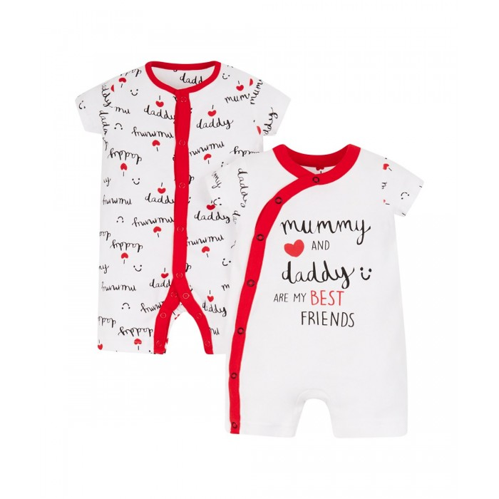 24ed4aca9 mummy and daddy rompers - 2 pack