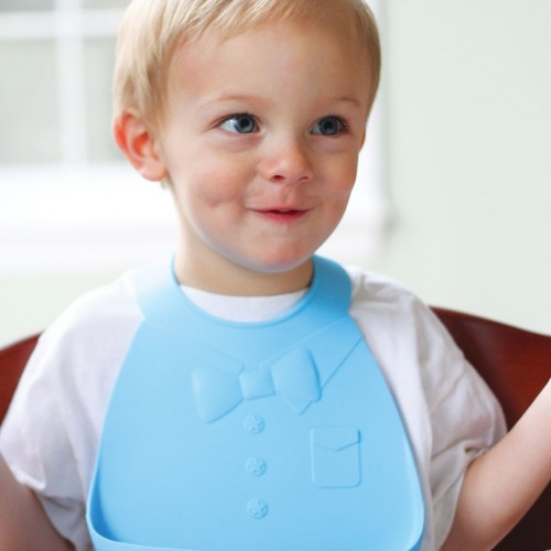 Нагрудник Make My Day Baby Bib Blue, цвет: голубой