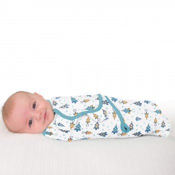 Summer Infant Конверт на липучке Summer Infant Swaddleme, L, Superstar Boy