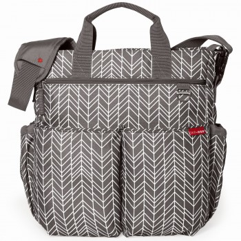 Сумка для мамы Skip Hop Duo Signature Grey Feather, серый