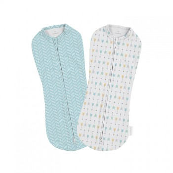 Summer Infant Конверт на молнии Summer Infant Swaddlepod, 2 шт., Arrows
