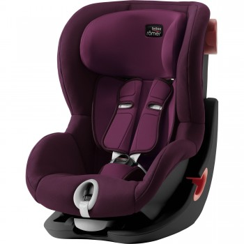 Автокресло Britax Roemer King II Black Series Burgundy Red, бордовый