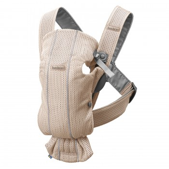 Рюкзак-переноска BabyBjorn Baby Carrier Mini, Pearly pink, 3D Mesh, розовый