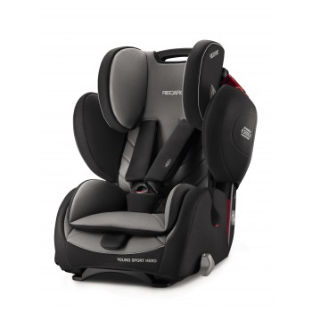 Автокресло Recaro Young Sport Hero, Carbon Black, черный автокресло группа 1 2 3 9 36 кг recaro young sport hero carbon black