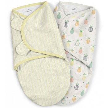 Summer Infant Конверт на липучке Summer Infant SwaddleMe Organic Pineapples Uni, S/M, «Ананасы», 2 шт.