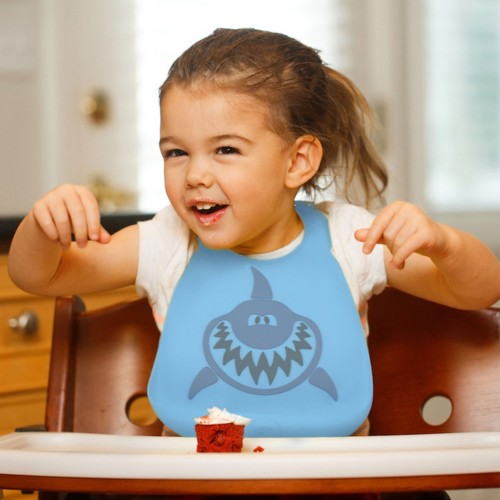 Нагрудник Make My Day Baby Bib Shark, цвет: голубой