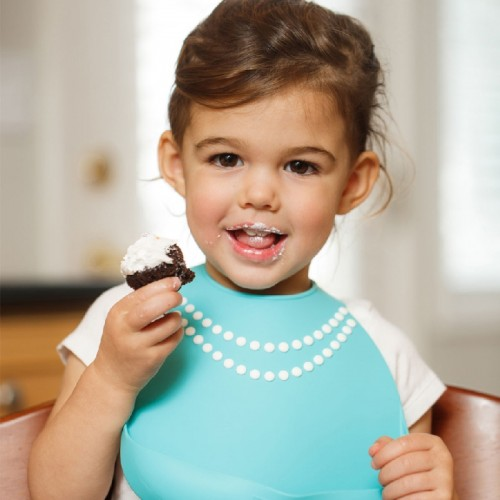 Нагрудник MAKE MY DAY Baby Bib Tiffany Blue Pearls, голубой