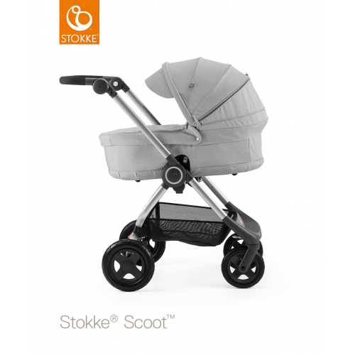 Люлька-переноска Stokke Scoot Grey Melang, серый меланж